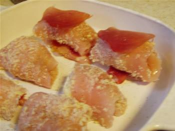 Chicken Rollatini in dish