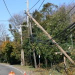 Look out for falling utility poles.